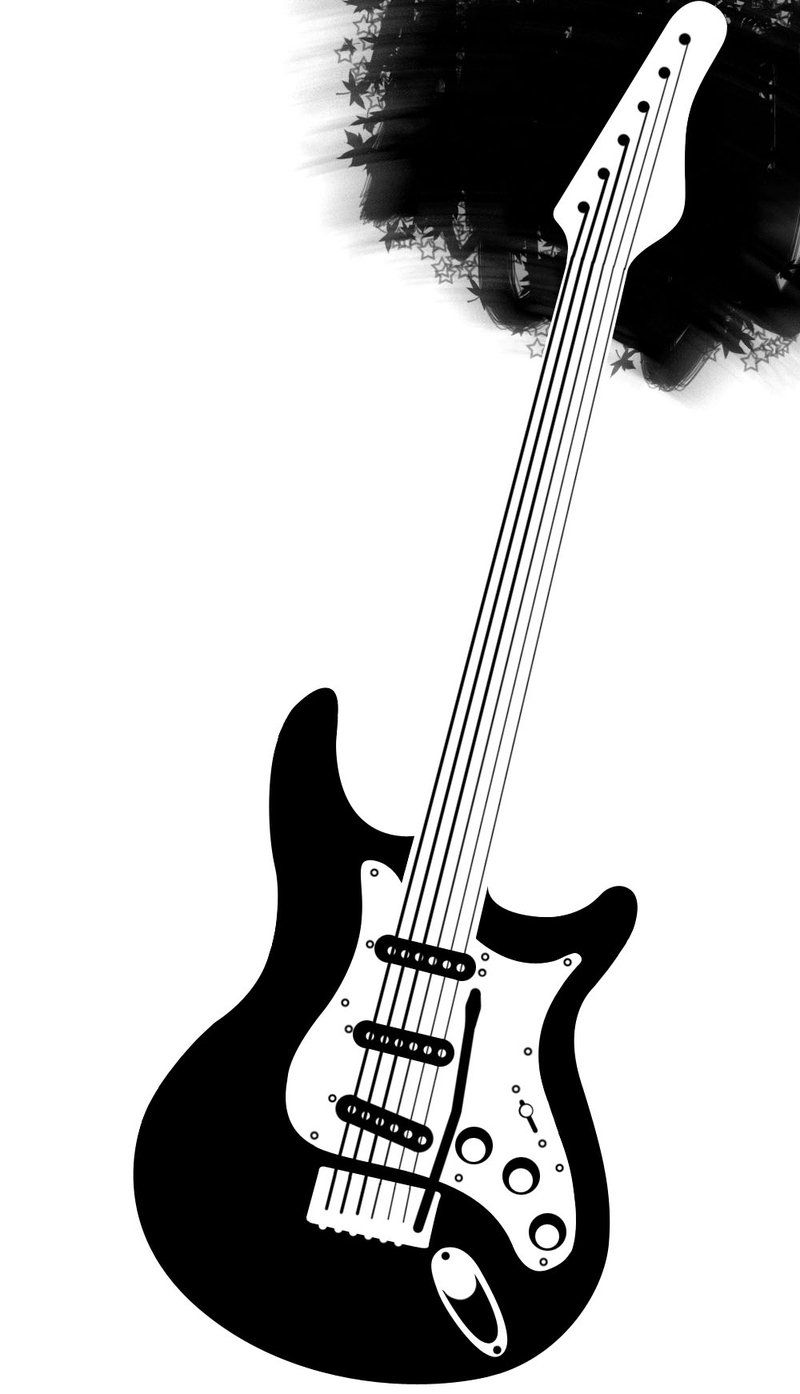 electric guitar drawing abstract guitar silhouette by deviant art user jimbizzle electric drawing guitar