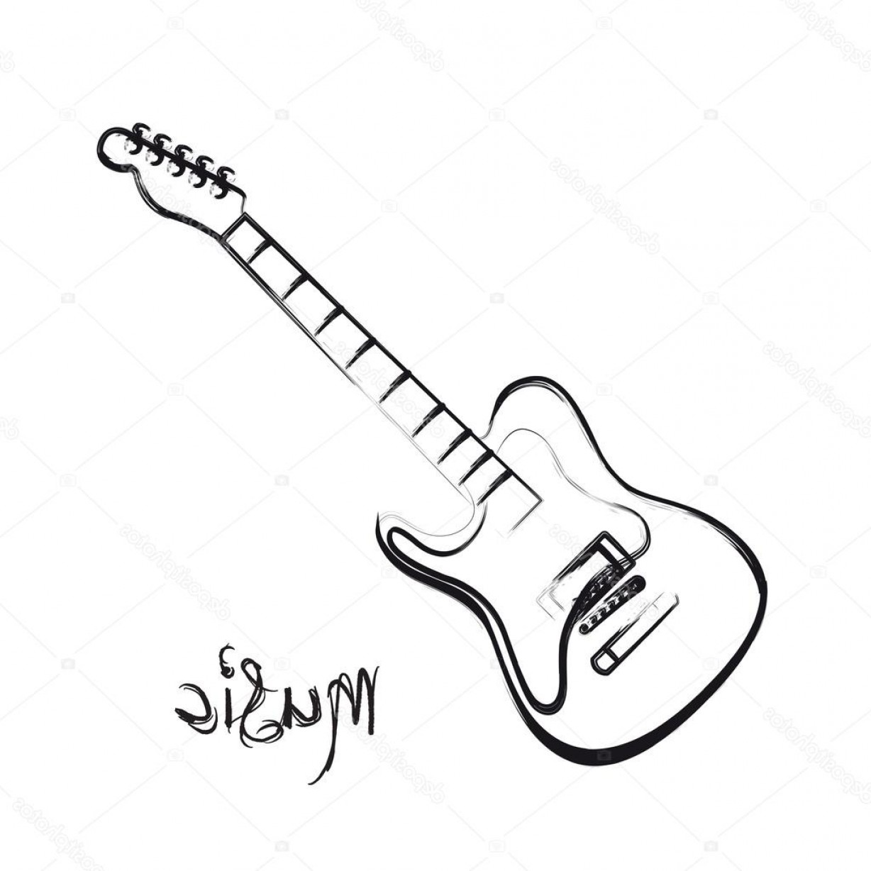 electric guitar drawing electric guitar drawing free download on clipartmag guitar electric drawing