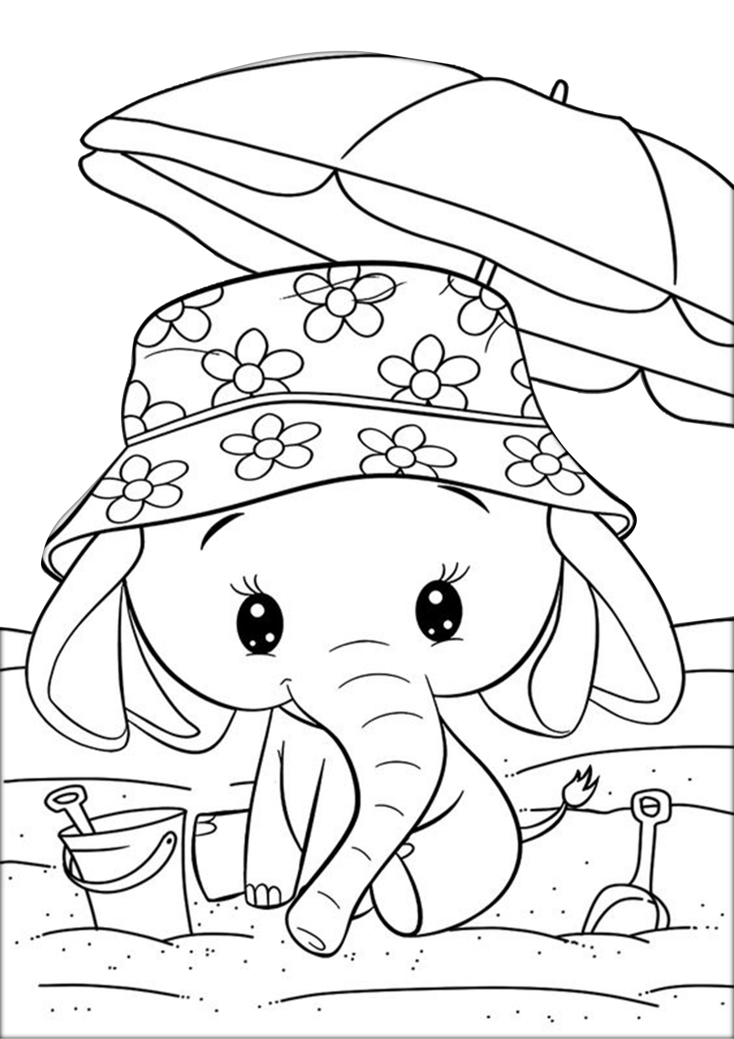 elephant coloring sheets printable very cute adorable little elephant coloring pages print printable coloring elephant sheets