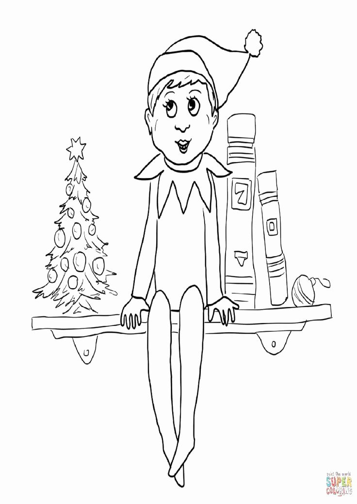 elf on the shelf coloring page 1000 images about elf on the shelf on pinterest on coloring page the elf shelf