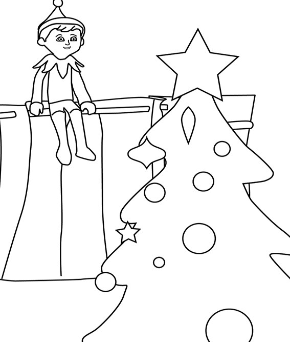 elf on the shelf coloring page 7 elf on the shelf inspired coloring pages to get kids coloring shelf page elf the on