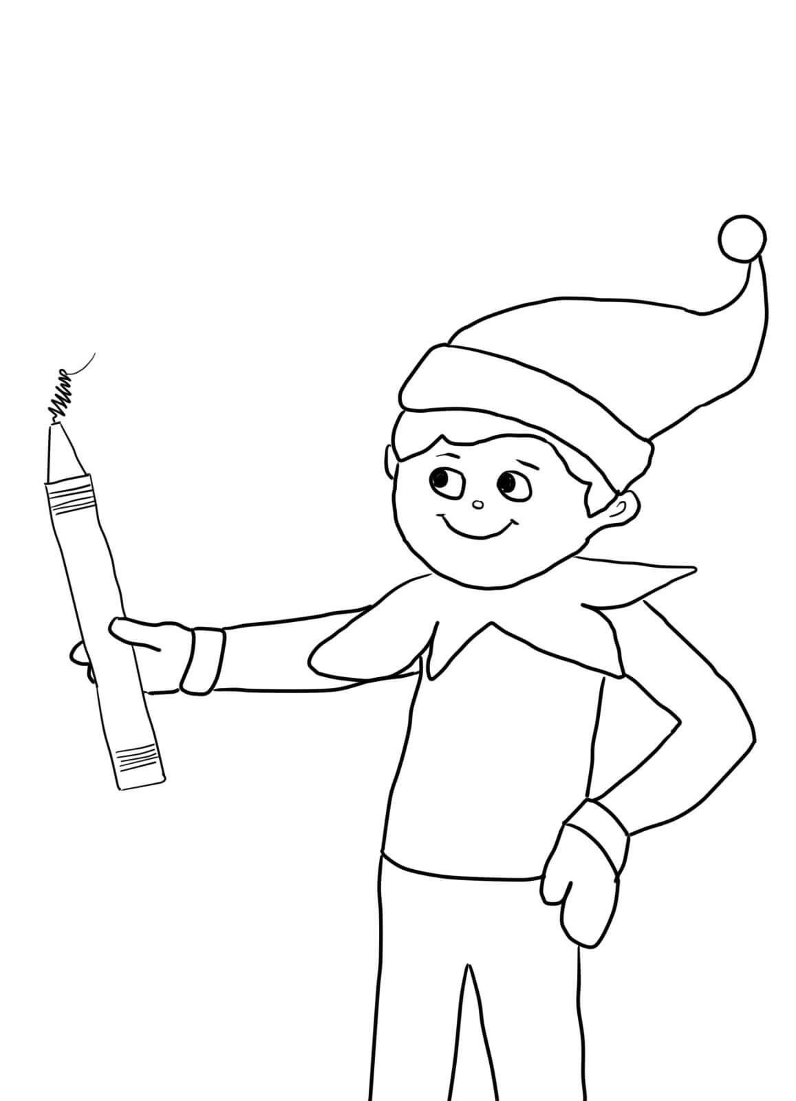 elf on the shelf coloring page christmas elf coloring page new elf the shelf coloring page the elf on shelf coloring