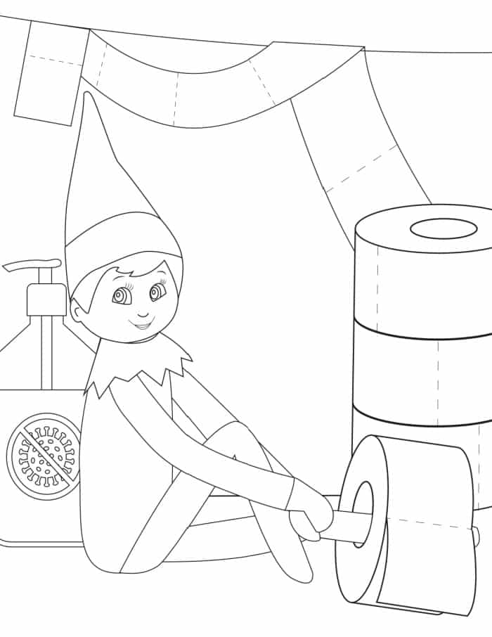 elf on the shelf coloring page elf on the shelf coloring sheets activity shelter on the shelf coloring elf page