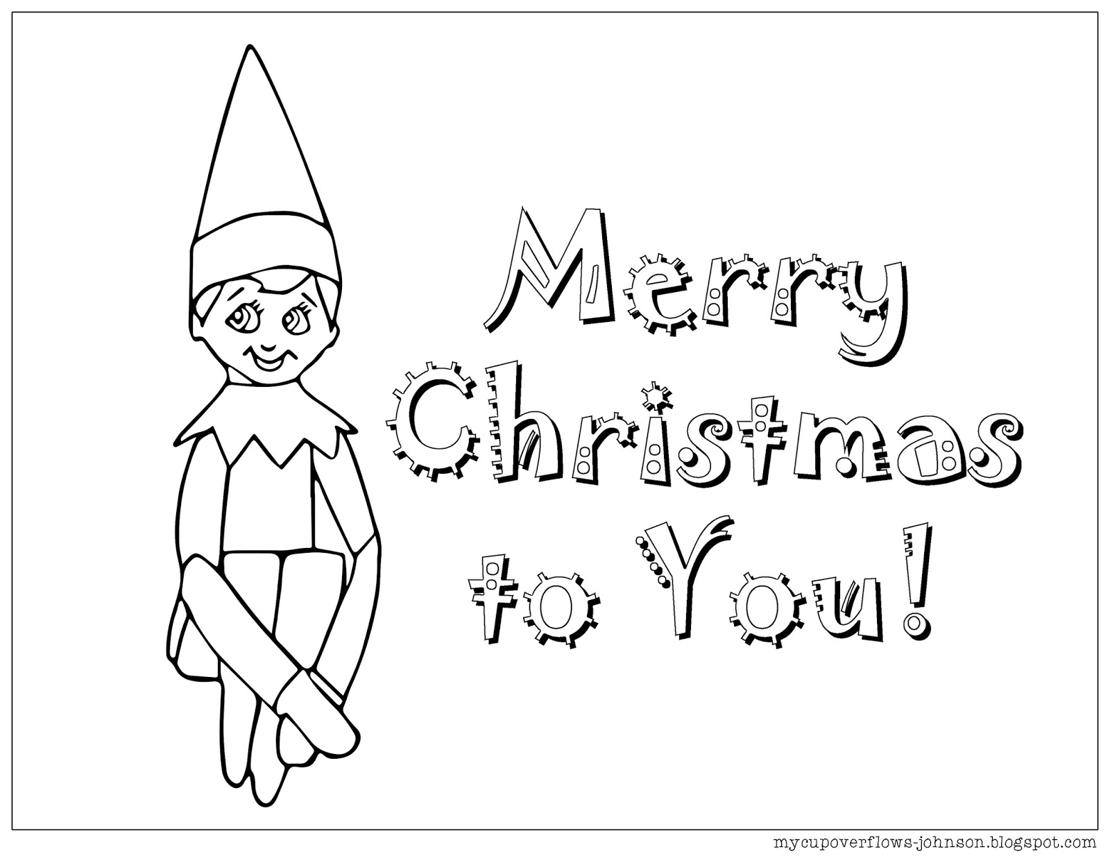 elf on the shelf coloring page free printable elf coloring pages for kids cool2bkids coloring page elf the on shelf