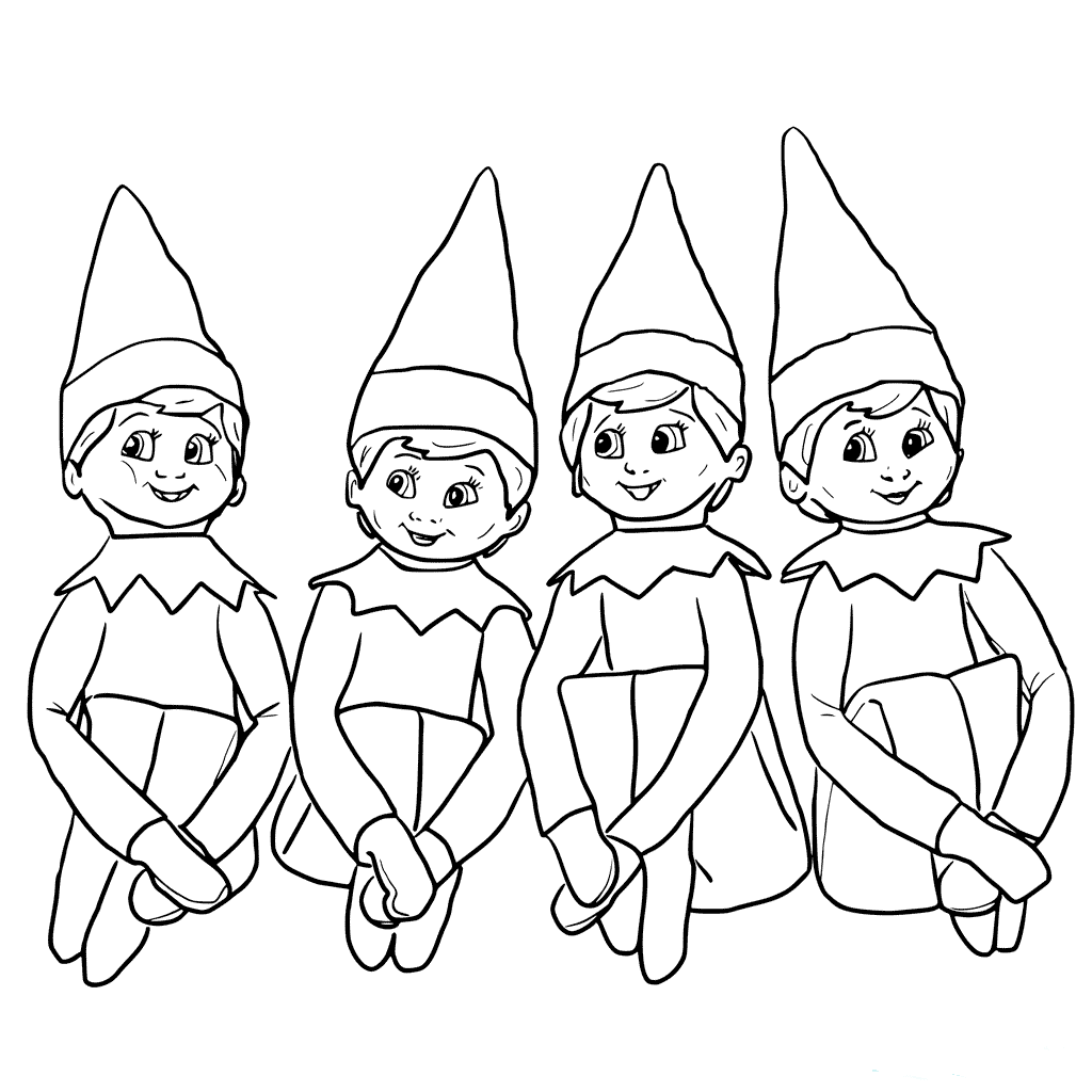 elf on the shelf coloring page free printable elf on the shelf coloring pages coloring home shelf the elf page coloring on