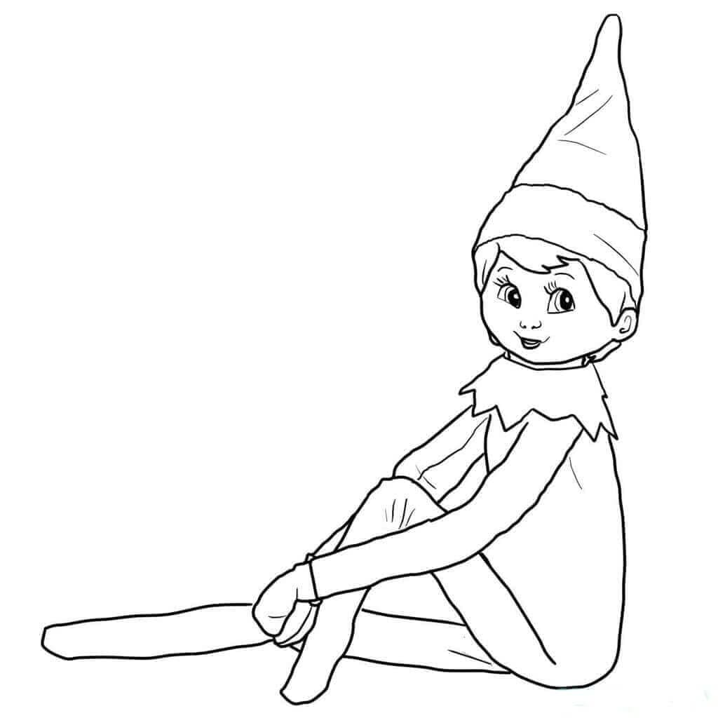 elf on the shelf coloring page holiday coloring pages cool2bkids on coloring page shelf the elf