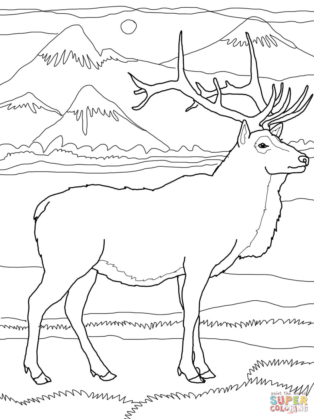 elk coloring pages bull elk coloring pages download print online coloring pages coloring elk