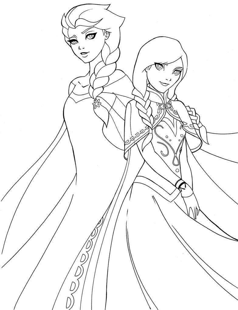 elsa and anna pictures to color coloring pages elsa and anna frozen print a4 size for free and pictures to color anna elsa