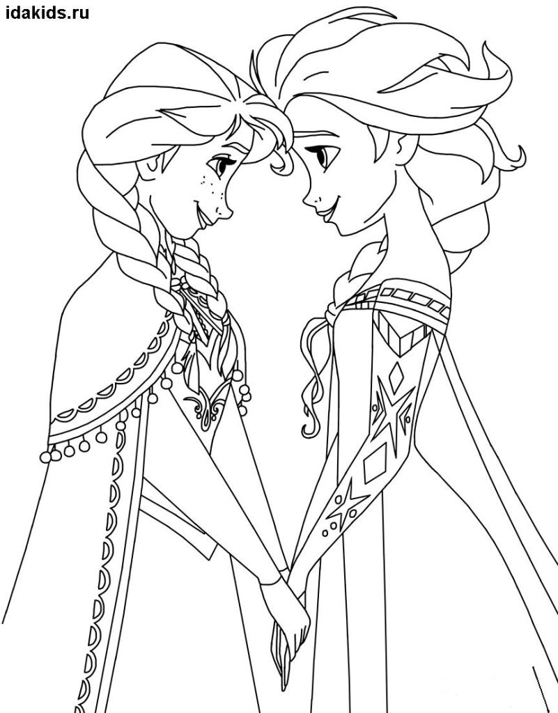 elsa and anna pictures to color disney39s frozen coloring pages 2 disneyclipscom and to color elsa anna pictures