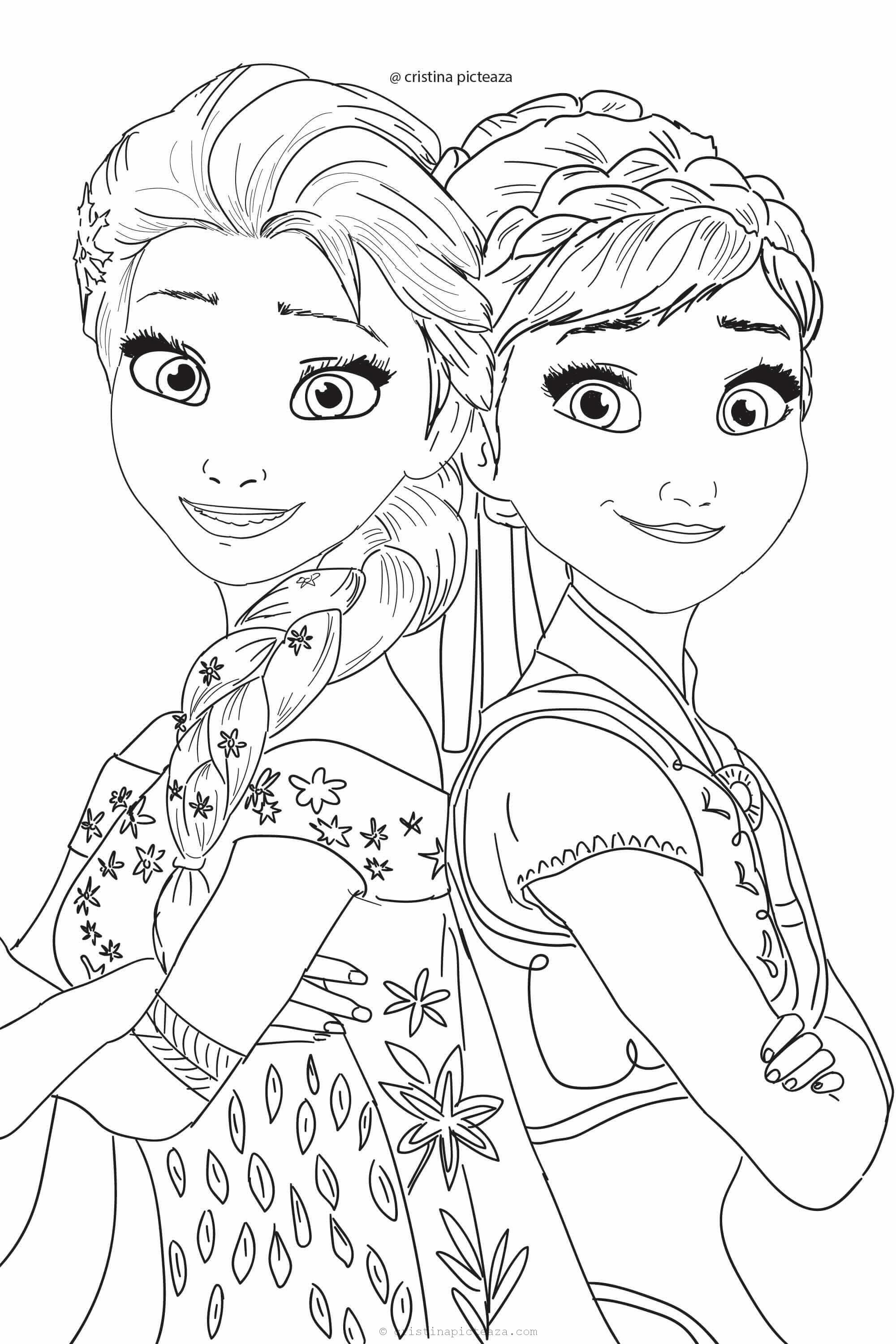elsa and anna pictures to color elsa and anna coloring pages the sun flower pages elsa to color anna and pictures
