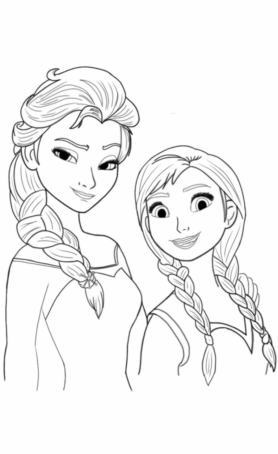elsa and anna pictures to color elsa and anna forever coloring page pictures and elsa anna color to