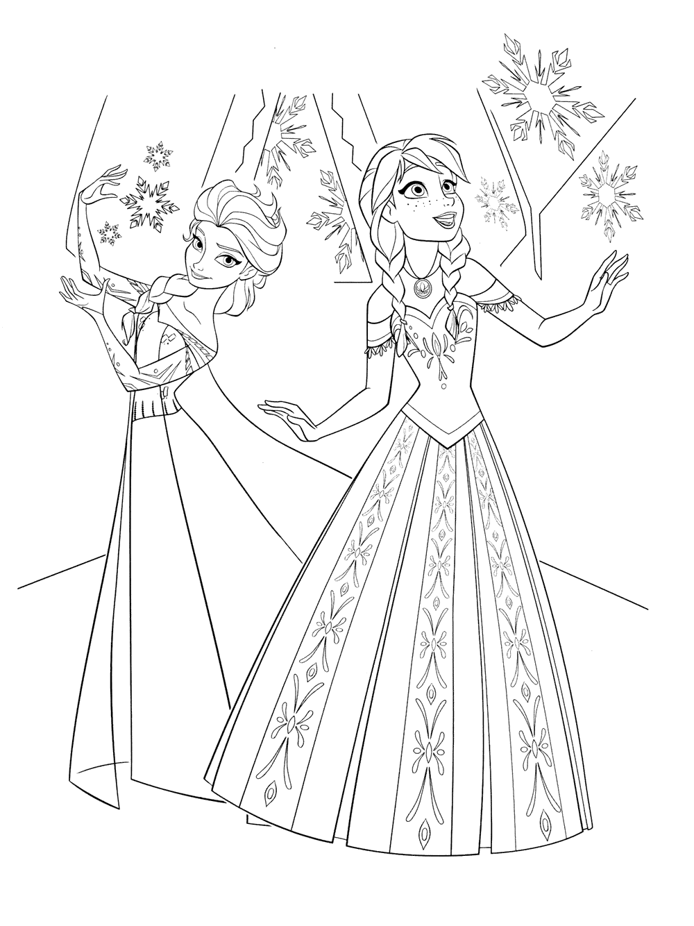 elsa and anna pictures to color elsa coloring pages free download on clipartmag and anna to pictures elsa color