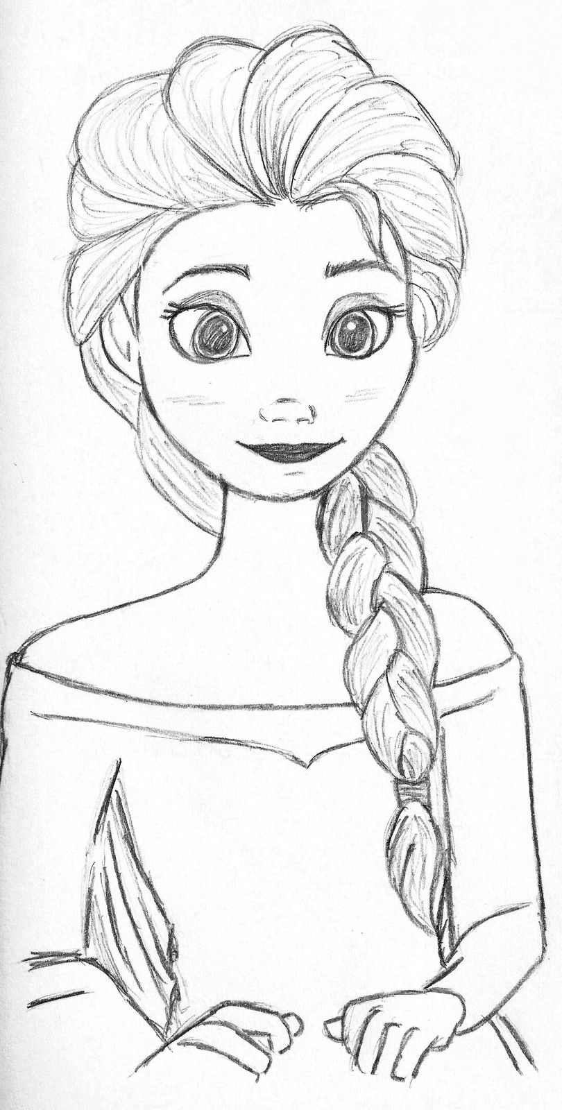 elsa drawing easy how to draw a chibi baby elsa from frozen with easy steps drawing elsa easy