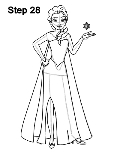 elsa drawing easy how to draw elsa from frozen step by step drawing easy drawing elsa