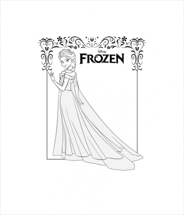 elsa frozen coloring sheets elsa running on the frozen lake coloring page elsa coloring frozen elsa sheets