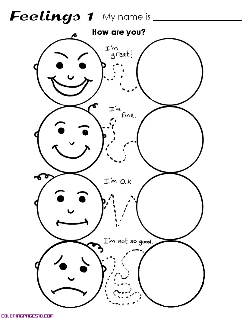 emotions coloring pages feelings coloring pages emotions pages coloring
