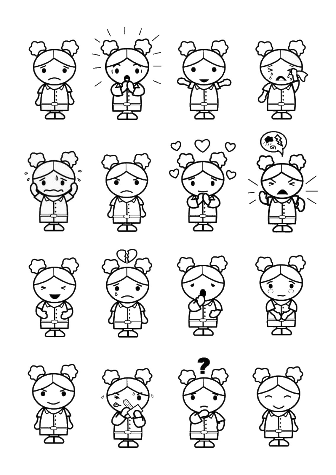 emotions coloring pages feelings coloring pages for preschoolers download free coloring emotions pages