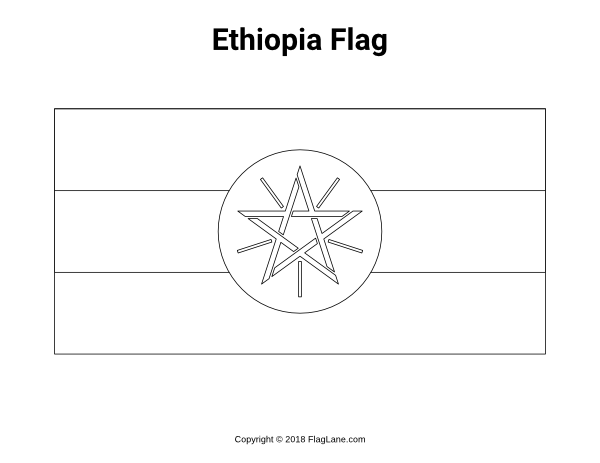ethiopia flag coloring page free printable ethiopia flag coloring page download it at coloring flag page ethiopia