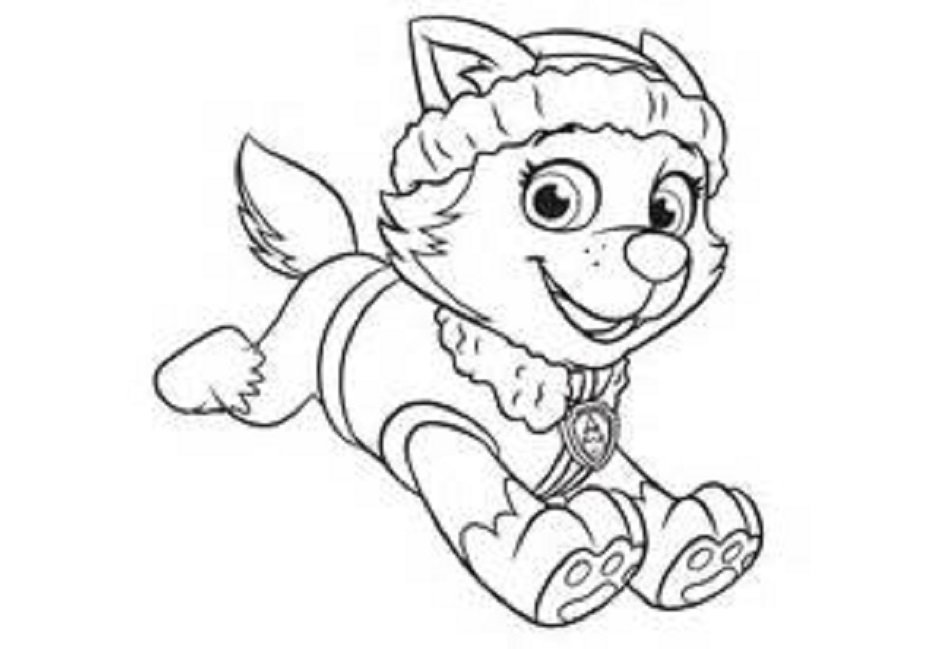 everest coloring page 10 free paw patrol mighty pups coloring pages printable everest page coloring