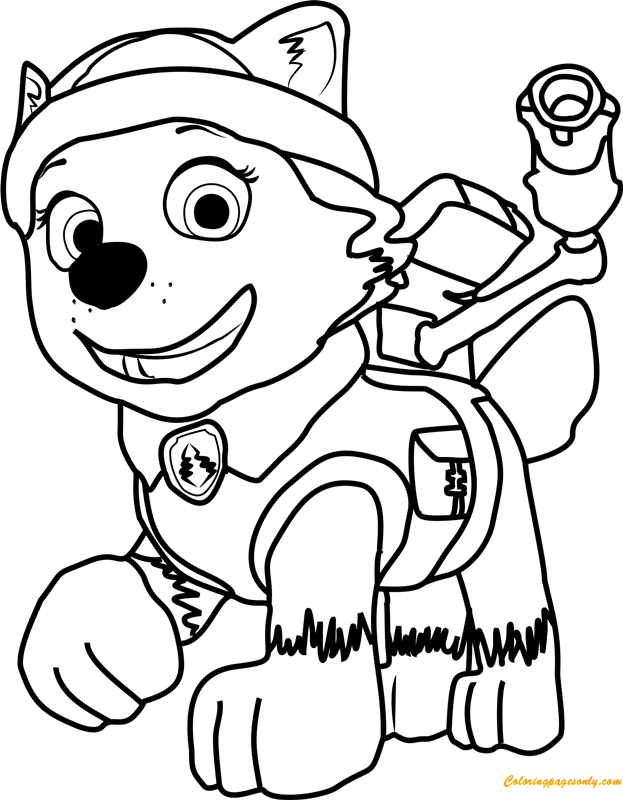 everest coloring page 28 everest paw patrol coloring page in 2020 paw patrol everest coloring page