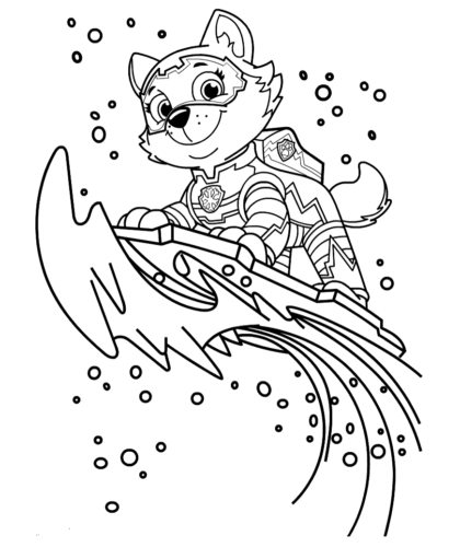 everest coloring page everest paw patrol coloring lesson kids coloring page everest page coloring