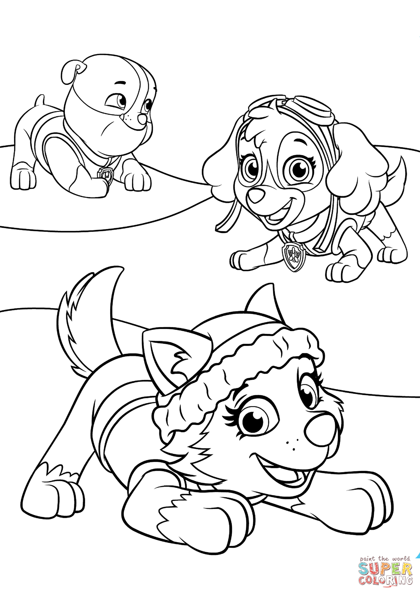 everest coloring page paw patrol everest coloring page at getcoloringscom coloring everest page