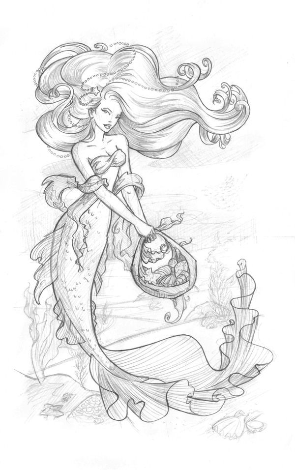 evil mermaid coloring pages the 25 best realistic mermaid drawing ideas on pinterest coloring evil mermaid pages