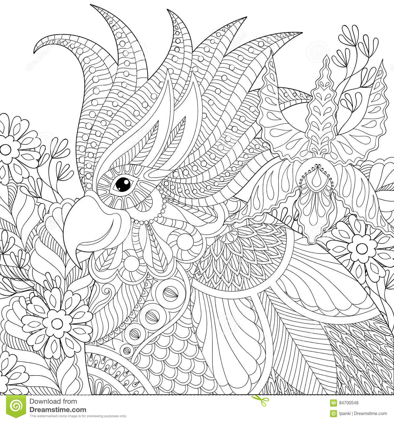 exotic animal coloring pages cat face in exotic design coloring page print color fun exotic coloring pages animal
