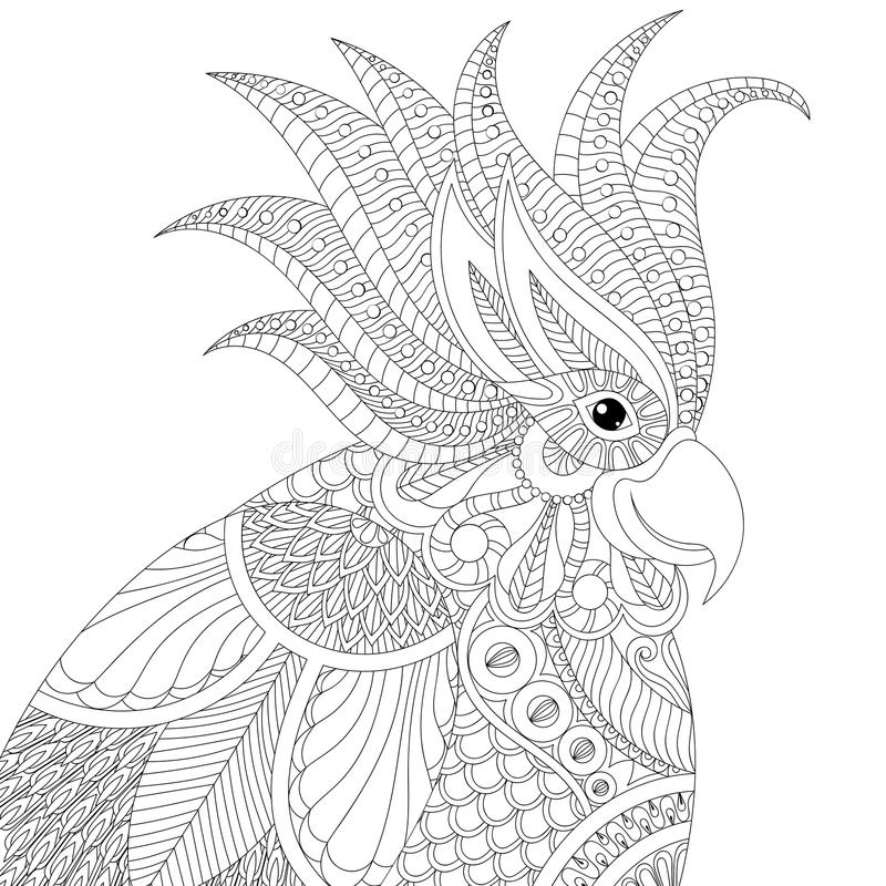 exotic animal coloring pages exotic zentangle cockatoo parrot for adult anti stress animal pages coloring exotic