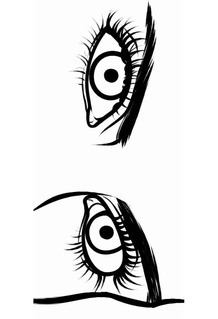 eye coloring page eye coloring page free download on clipartmag page eye coloring