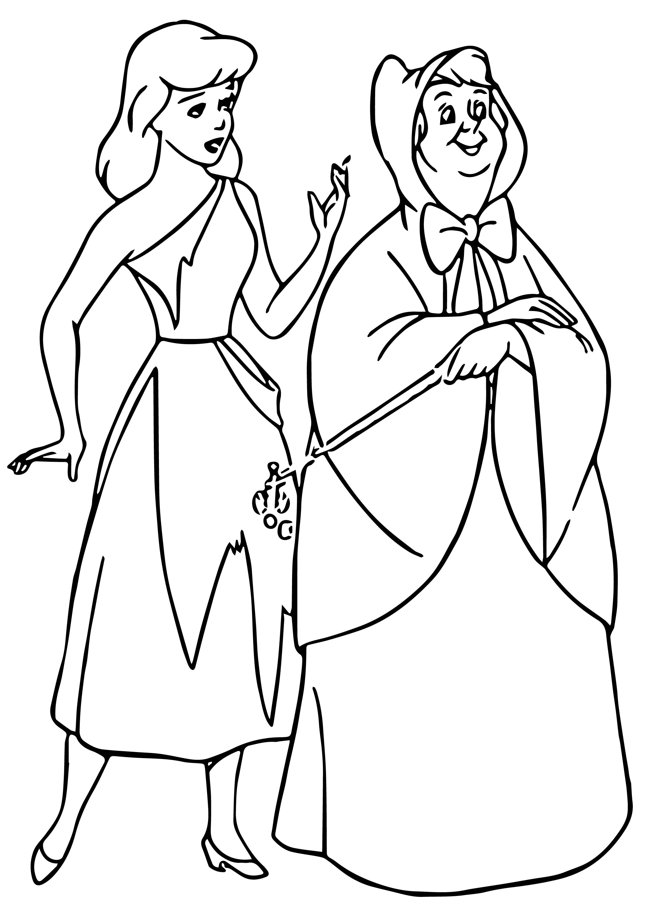 fairy godmother coloring page cinderella fairy godmother coloring pages 08 page fairy coloring godmother