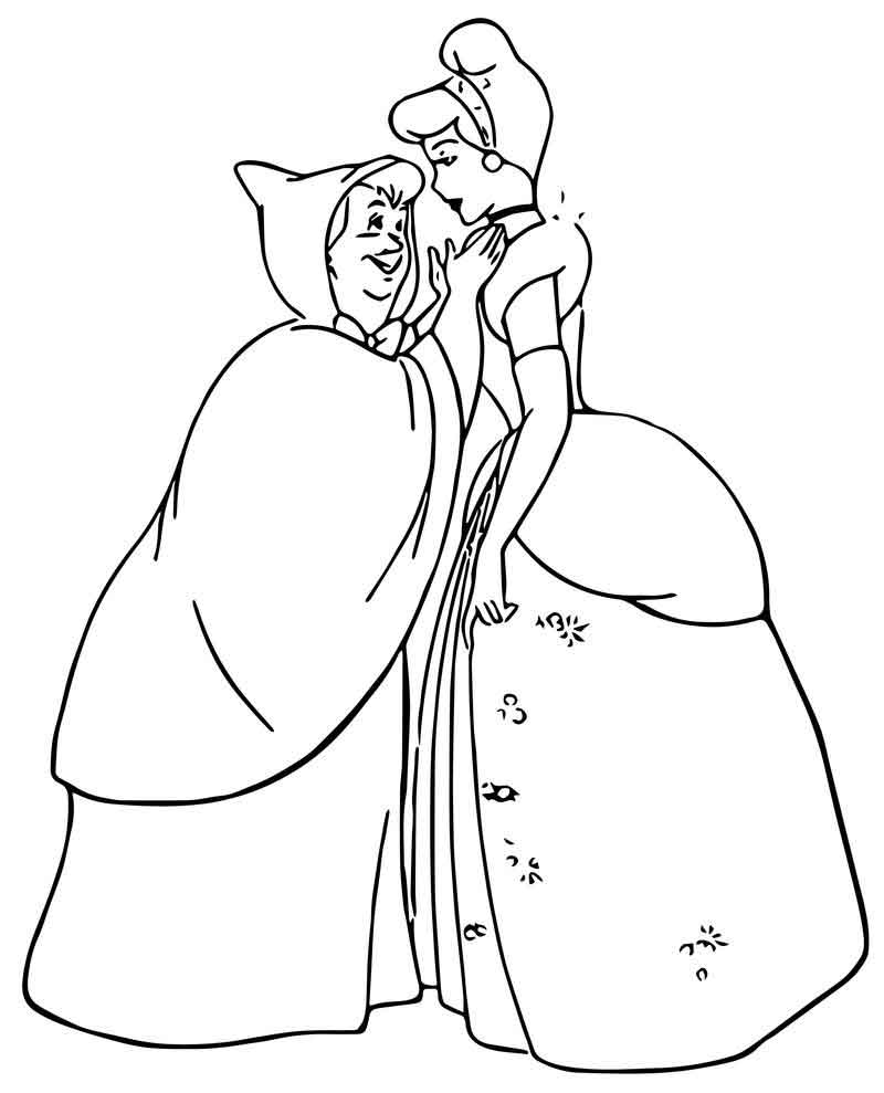 fairy godmother coloring page cinderella fairy godmother coloring pages 09 coloring fairy page godmother