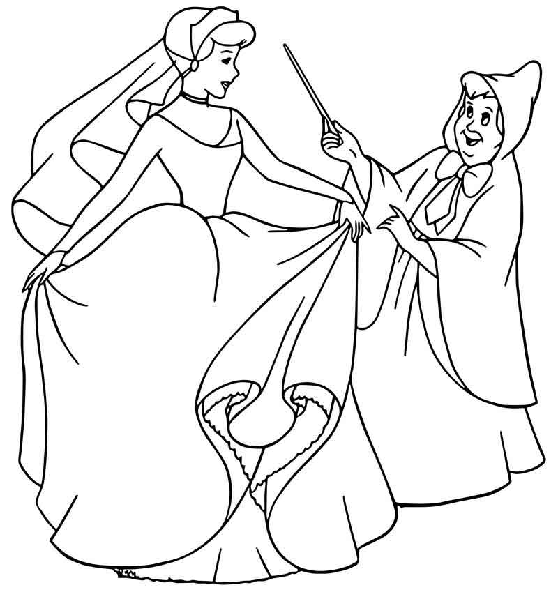 fairy godmother coloring page cinderella fairy godmother coloring pages 26 page godmother fairy coloring
