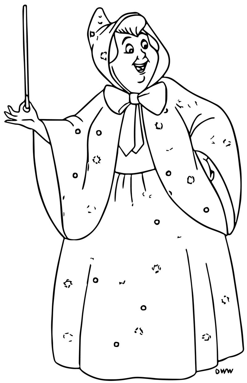 fairy godmother coloring page fairy god mother coloring pages free printable pictures coloring godmother fairy page