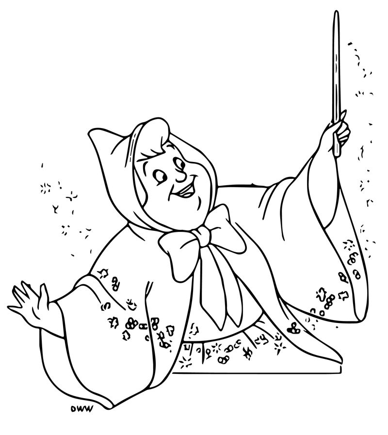 fairy godmother coloring page fairy godmother coloring page godmother page coloring fairy