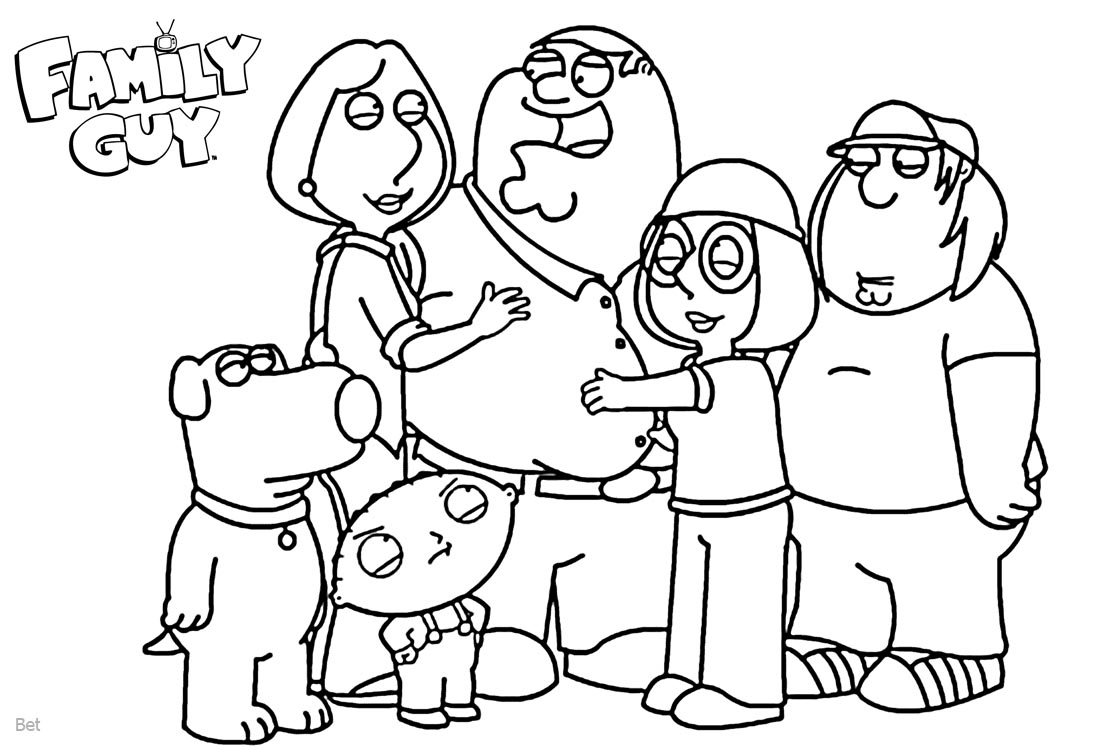 family guy coloring sheets family guy coloring pages coloring family sheets guy
