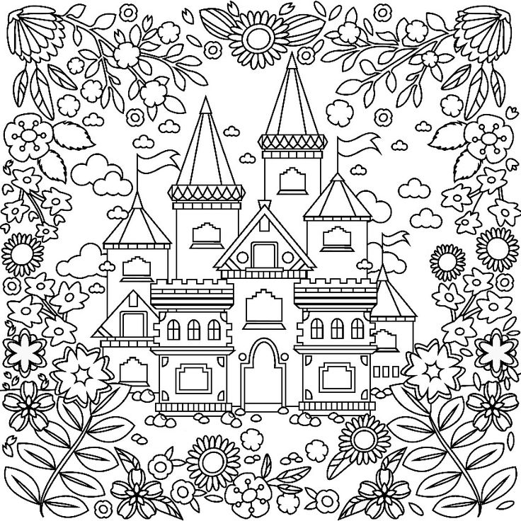fancy castle coloring pages castle coloring page for adults castle coloring page castle coloring fancy pages
