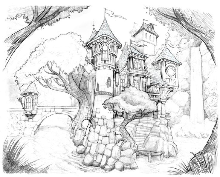fancy castle coloring pages castle drawing by brandonstarr on deviantart in 2020 pages coloring fancy castle