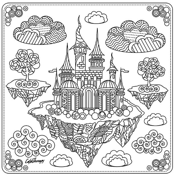 fancy castle coloring pages fairytale castle coloring page color therapy app is fun castle coloring fancy pages