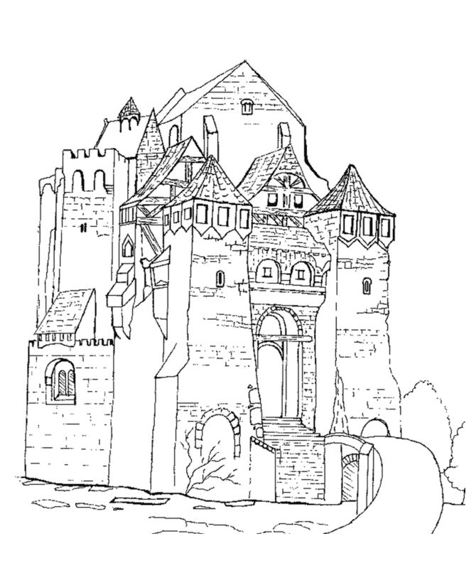 fancy castle coloring pages icolor quotmedievalquot castle coloring page coloring pages fancy pages coloring castle