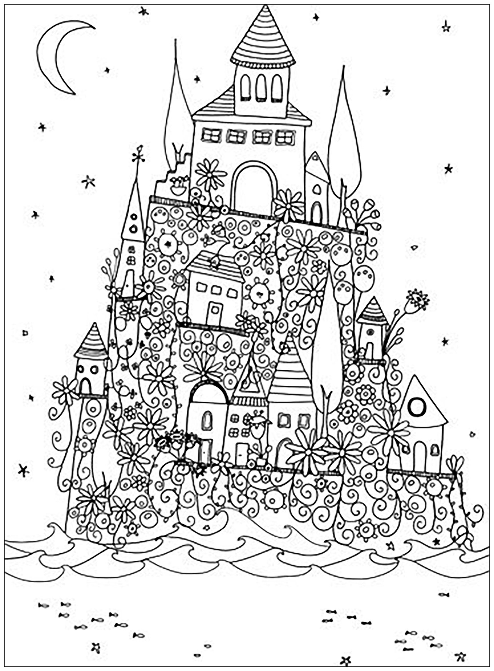 fancy castle coloring pages printable castle coloring pages for kids cool2bkids pages fancy castle coloring