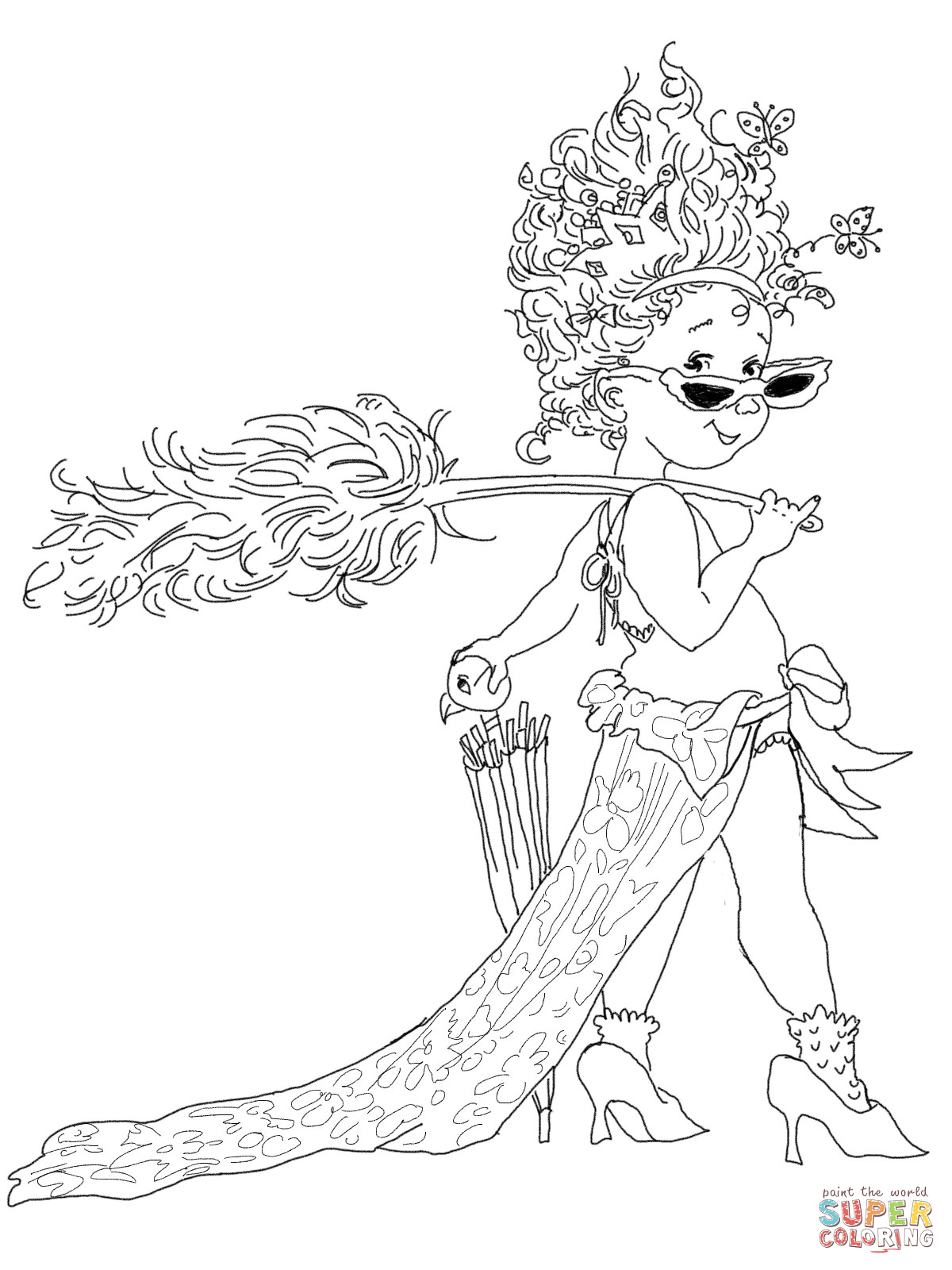 fancy coloring pages fantasy character coloring pages cute coloring pages fancy coloring pages