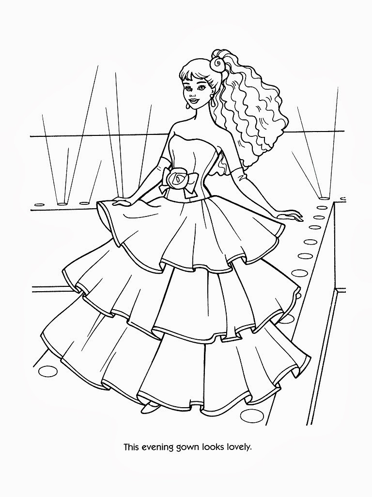 fashion barbie coloring pages barbie coloring page 31jpg 17002200 barbie coloring coloring pages fashion barbie