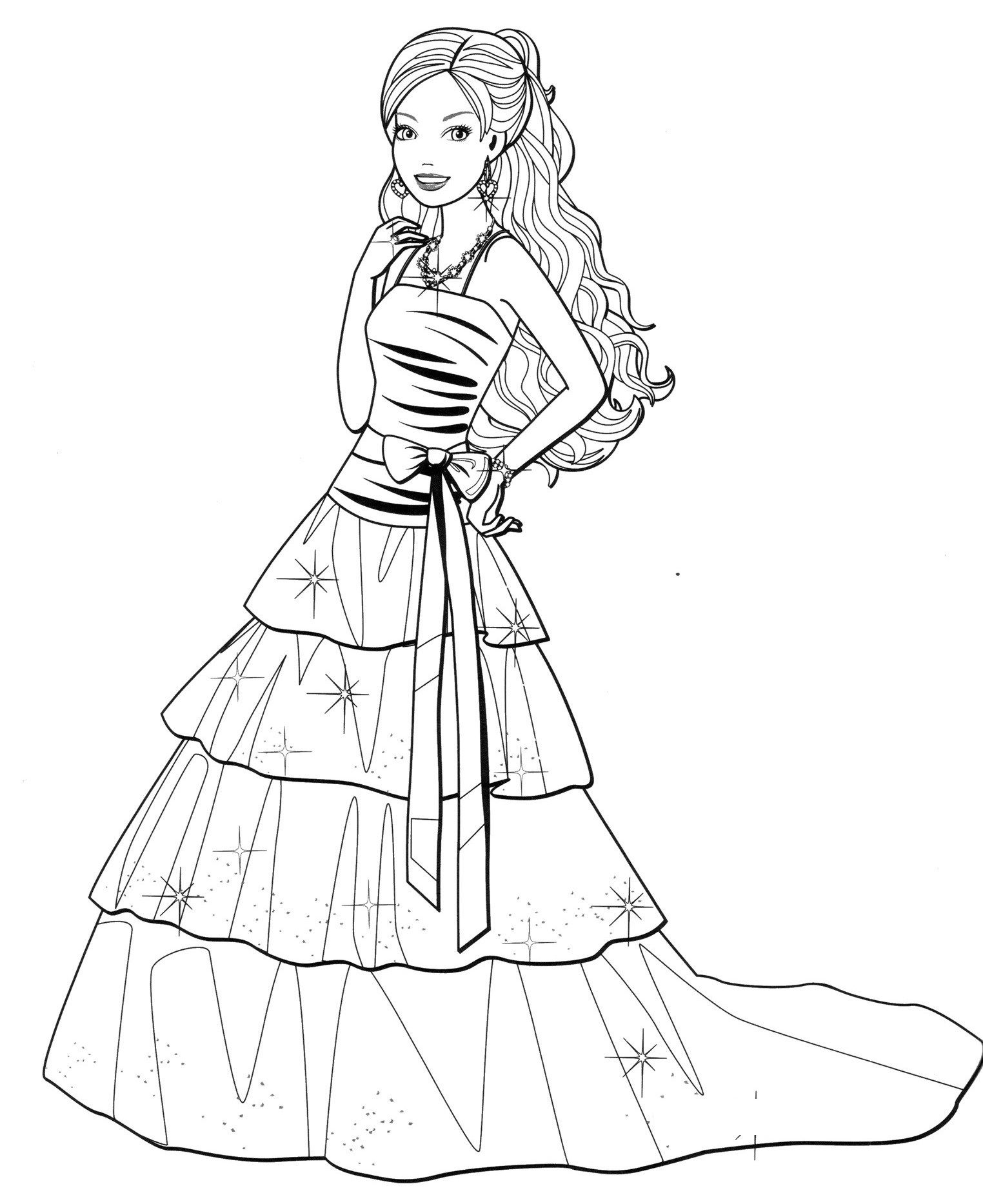 fashion barbie coloring pages barbiefashioncoloringpages44 free coloring pages and barbie pages coloring fashion