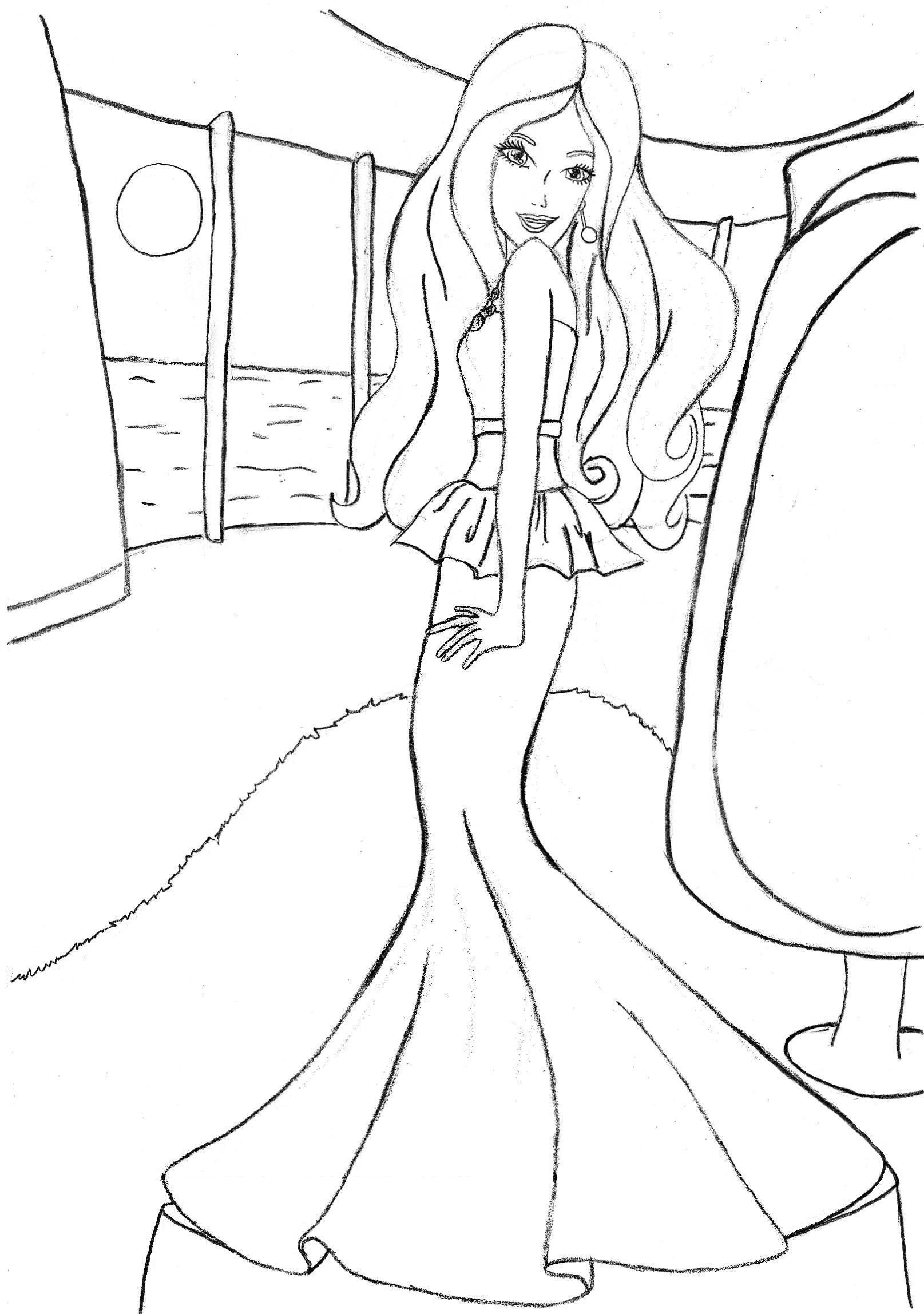 fashion barbie coloring pages coloring pages barbie free printable coloring pages barbie coloring fashion pages