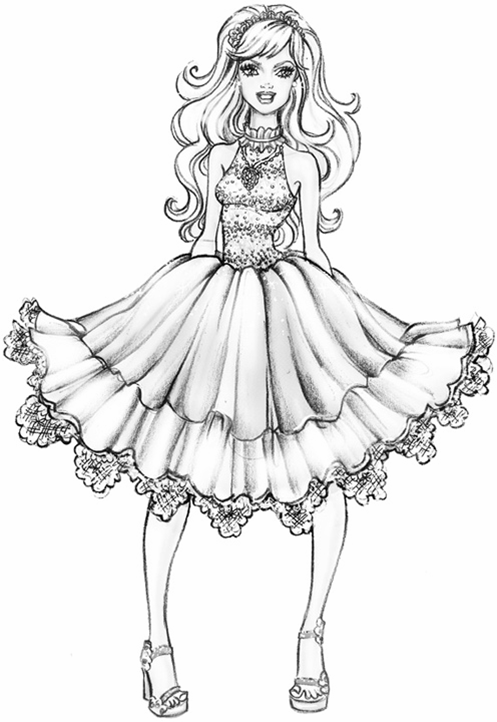 fashion barbie coloring pages coloring pages of barbie a fashion fairytale vingel pages fashion coloring barbie