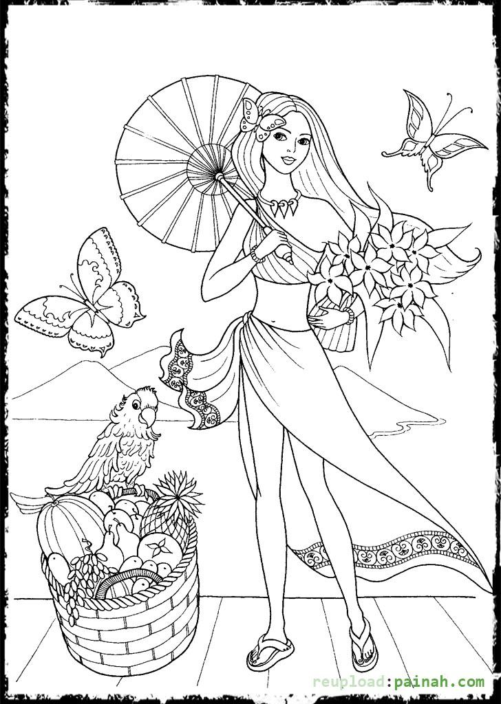 fashion girl coloring pages fashion coloring pages for girls with umbrella coloring fashion coloring pages girl