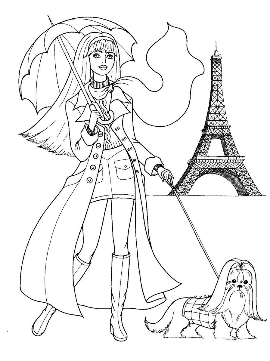 fashion girl coloring pages printable coloring pages of fashion clothing coloring home coloring girl fashion pages