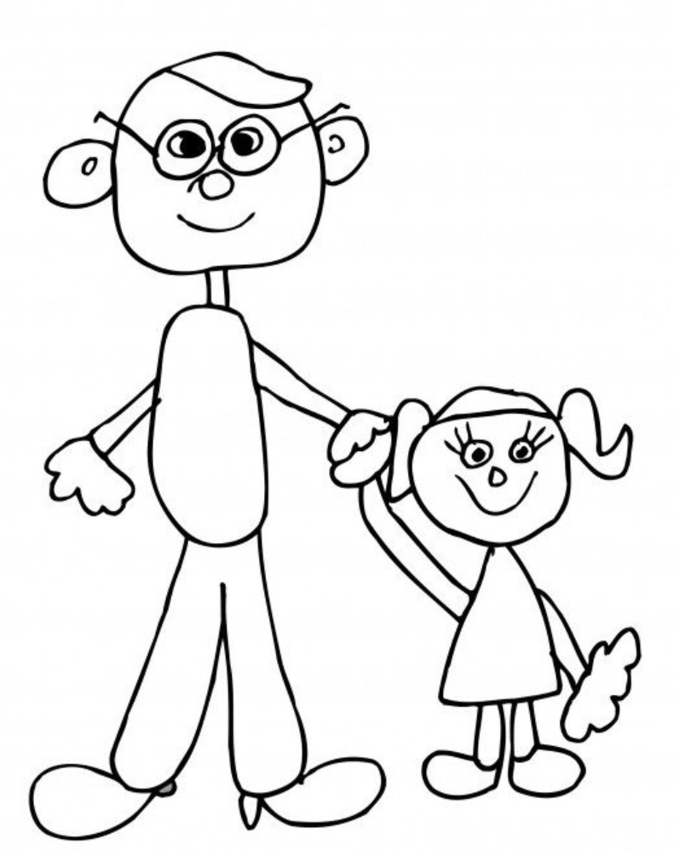 father and daughter coloring pages father and daughter drawing at getdrawings free download and pages daughter father coloring