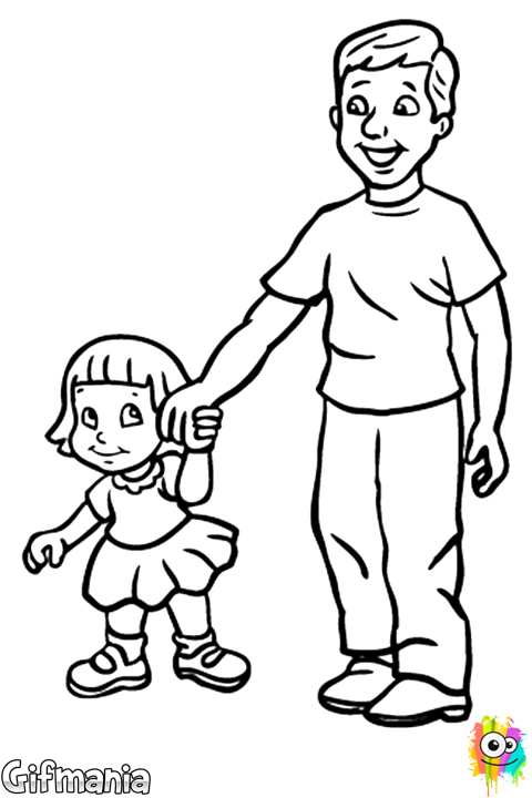 father and daughter coloring pages father and daughter father39s day drawings children and coloring daughter father pages